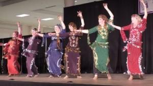 Shahrazad Ensemble performed Egyptian Saidi dance at the Northwest Folklife Festival in May 2016. Video capture image by Shahrazad Ensemble.