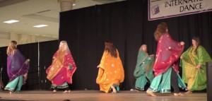 Shahrazad Ensemble presenting a khalegy-style dance at the Northwest Folklife Festival in May 2016. Video capture image by Shahrazad Ensemble.